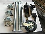 AVB Anhänger-Set Stützrad und Stützfüßen 700 mm mit Klemmhaltern und Unterlegkeilen schwarz &...