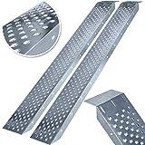 MASKO® 2X Auffahrrampe 400kg | Verladerampe | Verladeschiene | verzinkter Stahl | Antirutsch |...