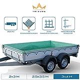 TRIBURG® Anhängernetz 3x4 mit Eckmarkierungen - Hängernetz mit Spanngummi zur optimalen...